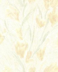 Jessamine Light Yellow Tulips by  Brewster Wallcovering