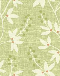 Linnea Green Botanical Trail by  Brewster Wallcovering