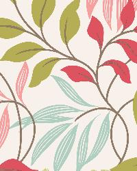 Clementine Pink Modern Leaf Trail by