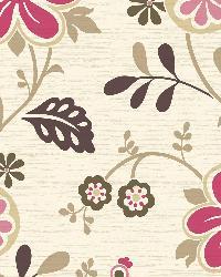 Darlene Magenta Modern Floral Trail by