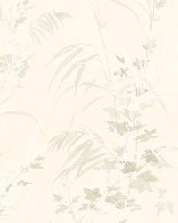 Tory Cream Tropical Leaves by
