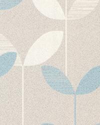 Ernst Light Blue Linear Leaf by
