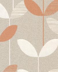 Ernst Orange Linear Leaf by