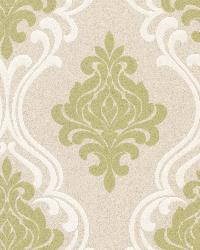Indiana Light Green Damask by
