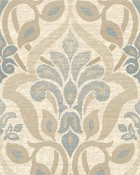 Fusion  Blue Ombre Damask by