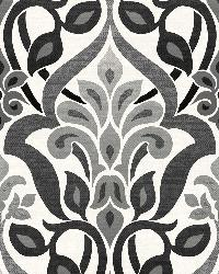 Fusion  Black Ombre Damask by