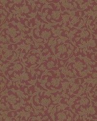 Parkside  Red Scroll by  Brewster Wallcovering