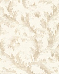 Harper  Neutral Acanthus Trail by  Brewster Wallcovering