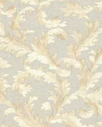 Harper  Light Grey Acanthus Trail by  Brewster Wallcovering