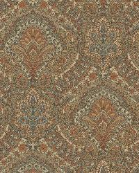 Cypress Chestnut Paisley Damask by