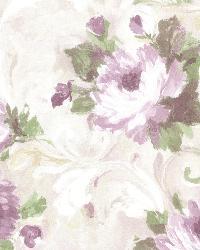 Jasmine Purple Floral Scroll by