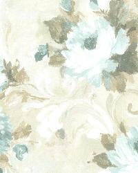 Jasmine Blue Floral Scroll by