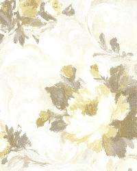 Jasmine Yellow Floral Scroll by