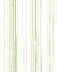 Estelle Green Watercolor Stripe by  Brewster Wallcovering
