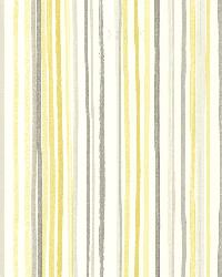 Estelle Yellow Watercolor Stripe by  Brewster Wallcovering
