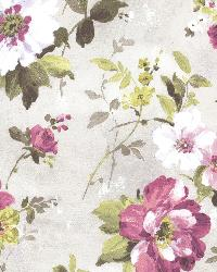 Amalia Purple Floral Garden by  Brewster Wallcovering