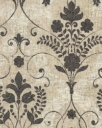 Andalusia Black Damask by