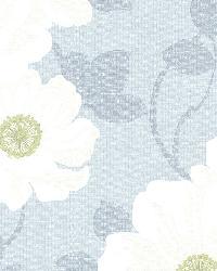 Leala Light Blue Modern Floral by