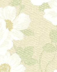 Leala Golden Green Modern Floral by