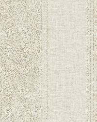 Arcades Taupe Paisley Stripe by