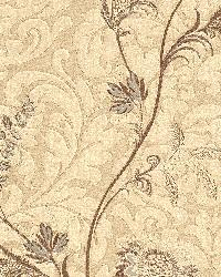 Lovera Grey Jacobean Floral Scroll by
