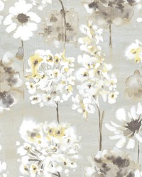 Marilla Yellow Watercolor Floral Wallpaper by