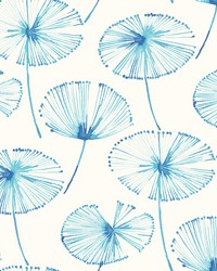 Paradise Blue Fronds Wallpaper by