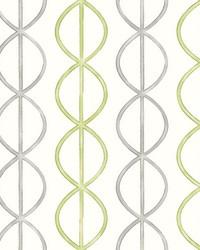 Banning Stripe Green Geometric Wallpaper by