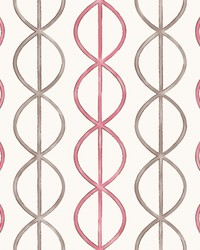 Banning Stripe Pink Geometric Wallpaper by