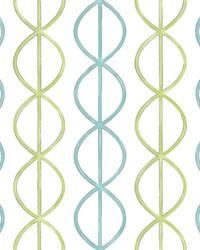 Banning Stripe Aqua Geometric Wallpaper by