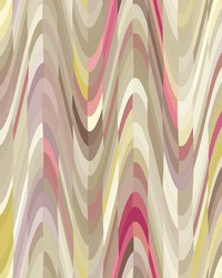 Aurora Pink Geometric Wave Wallpaper by