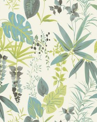 Descano Flower Green Botanical Wallpaper by