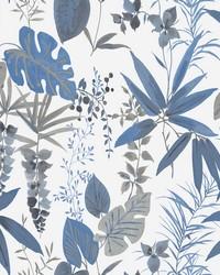 Descano Flower Blue Botanical Wallpaper by
