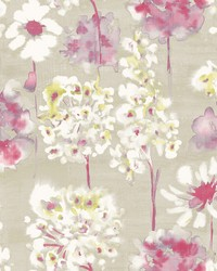 Marilla Pink Watercolor Floral Wallpaper by