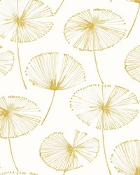 Paradise Gold Fronds Wallpaper by