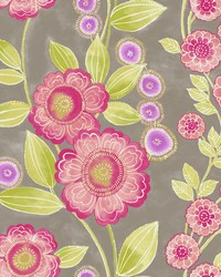 Bloom Pink Floral Wallpaper by