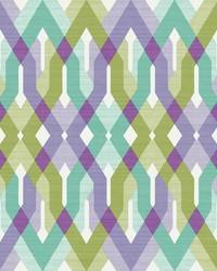 Harbour Lavender Lattice Wallpaper by