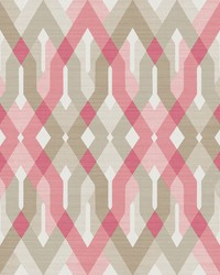 Harbour Pink Geometric Wallpaper by
