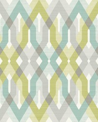 Harbour Green Lattice Wallpaper by