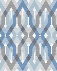 Harbour Blue Lattice Wallpaper by