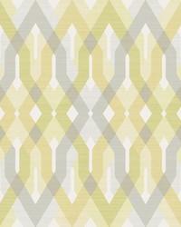 Harbour Golden Green Lattice Wallpaper by