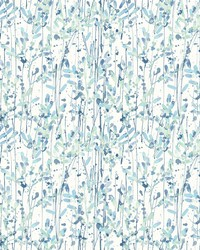 Willow Blue Leaves Wallpaper by