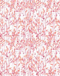 Willow Pink Leaves Wallpaper by
