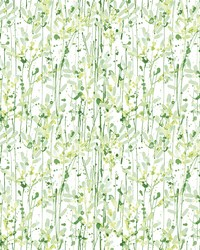 Willow Green Leaves Wallpaper by