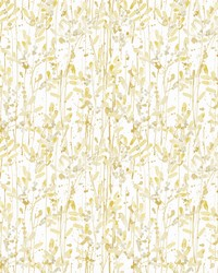 Willow Gold Leaves Wallpaper by