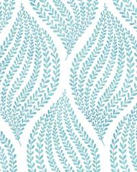 Arboretum Aqua Fern Wallpaper by