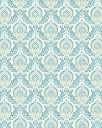 Lulu Green Damask by