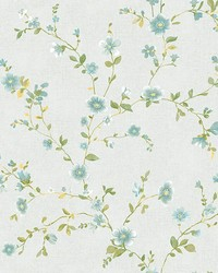 Delphine Light Blue Floral by
