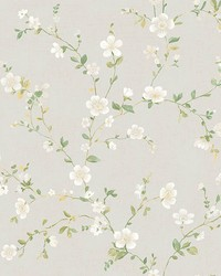 Delphine White Floral Trail by