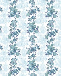Charlise Blue Floral Stripe by